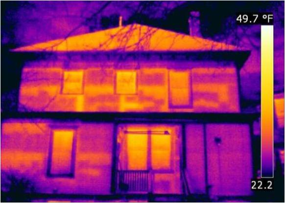 IR Missing Insulation House Exterior