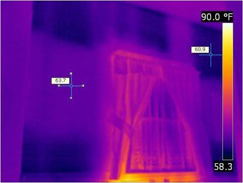 IR Missing Insulation House Interior
