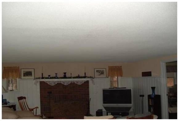 Visible Light Uninsulated Attic